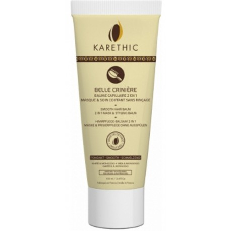Karethic Baume capillaire fondant au karité 100 ml, soin capillaire bio