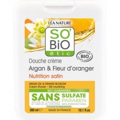 So'Bio Etic Douche Argan et Fleur d'Oranger 300ml gel douche bio les copines bio