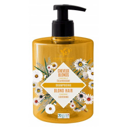 Cosmo Naturel Shampooing Camomille Cheveux blonds - 500ml camomille allemande éclaircissante les copines bio