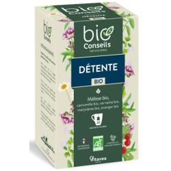 Infusion Détente bio libère votre stress 20 sachets Bio Conseils herboristerie les copines bio