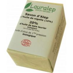 Lauralep Savon d'Alep bio à l'huile de Nigelle 150 gr les copines bio huile de cumin noir