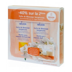 Weleda Lot de 2 Huiles de massage contre les vergétures 2 x 100 ml les copines bio