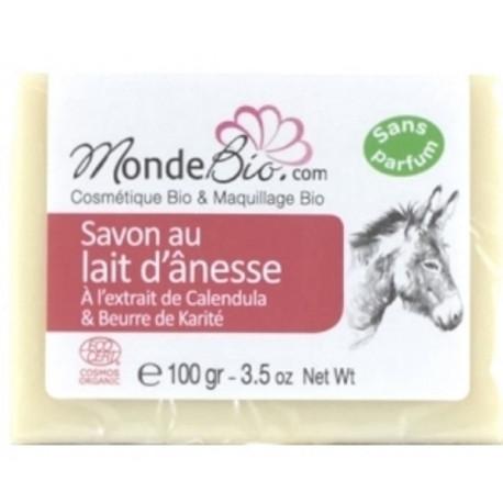 Savon 40% lait d'ânesse bio Karité et extrait de Calendula 100gr