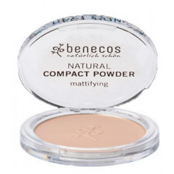 Benecos Poudre compacte Sand SABLE 9 gr maquillage bio et minéral du teint les copines bio