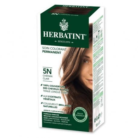 Herbatint Coloration châtain Clair 5N - 150 ml coloration capillaire naturel Les copines bio
