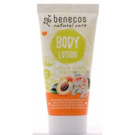 Benecos Mini lotion corps abricot et fleur de sureau 30ml les copines du bio cosmétique bio