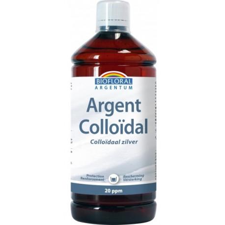 argent colloïdal 1 litre Biofloral  les copines bio beauté de la peau