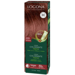Logona Crème colorante lie de vin 150 ml - Cheveux blonds chatains les copines bio
