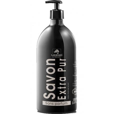 Naturado Savon liquide Extra Pur 1 litre savon extra pur et extra vierge les copines bio