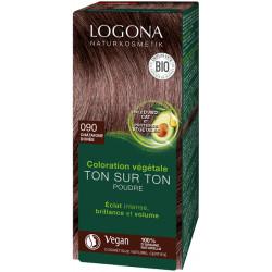 Logona Coloration végétale ton sur ton 090 en poudre Chataîgne dorée 100gr Soin colorant végétal les copines bio