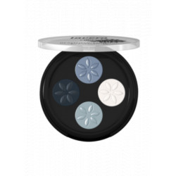 Fard à paupières Quattro Blue platinum 07  4x0.80 g Les Copines Bio Maquillage bio