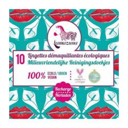 Lamazuna Recharge de 10 lingettes démaquillantes à l'eau réutilisables Les Copines Bio Hygiene bio