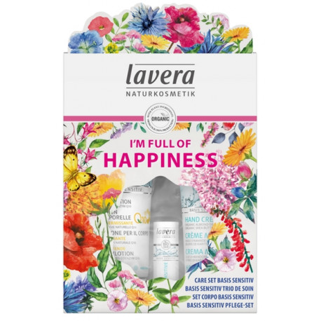 Coffret Basis sensitiv Trio de soin Lavera hydratation bio les copines bio