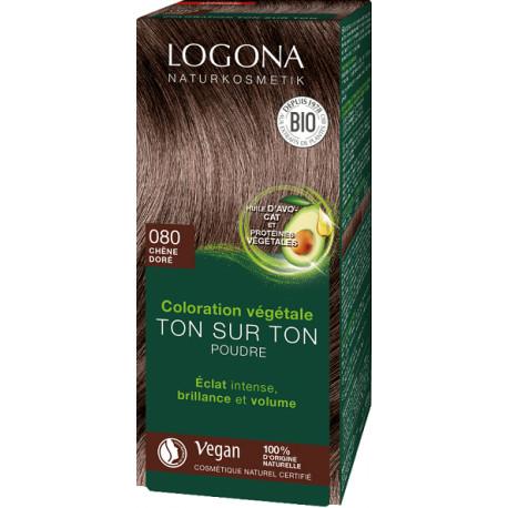 Coloration végétale Ton sur Ton poudre Chêne doré 080 100 gr,soin colorant les copines bio