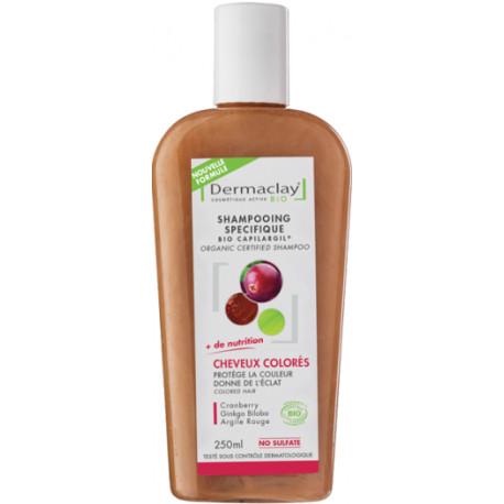Dermaclay Shampooing Cheveux Colorés ou Décolorés 250ml cosmétique bio les copines bio
