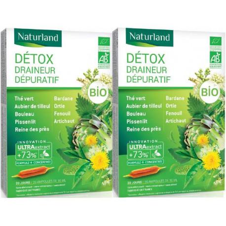 Detox Bio Lot de 2 boîtes de 20 ampoules buvables