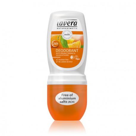Déodorant Roll-On Orange Argousier 50 ml Lavera cosmétique bio déodorant bio les copines bio