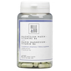 Belle et Bio Magnésium Marin Vitamine B6 120 gélules équilibre nerveux Les copines bio