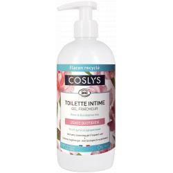 Coslys Gel intime à l'eau florale de rose bio 500ml fraicheur intime  les copines bio