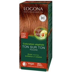 Logona Coloration végétale Ton sur Ton 040 poudre Cuivre flamme froid 100gr Soin colorant les copines bio