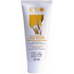 C'BIO Shampooing Usage fréquent Miel Calendula Avoine 200 ml shampoing bio les copines bio