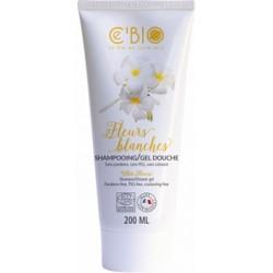 C'Bio Shampooing gel Douche Fleurs blanches 200ml hygiène bio les copines bio