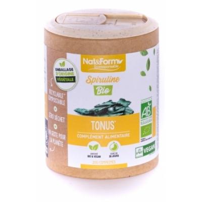Nat et Form Spiruline Bio 200 comprimés phycocyanine les copines bio