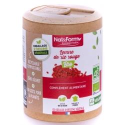 Nat et Form Levure rouge de riz Bio 120 gélules monacoline k les copines bio