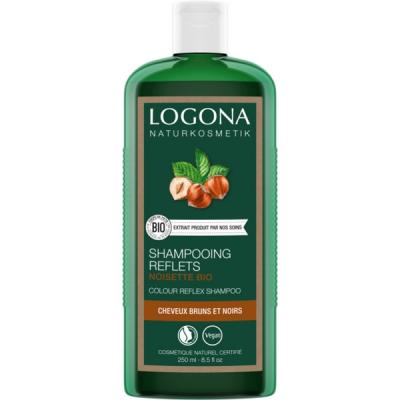 Logona Shampooing reflets à la noisette cheveux bruns 250ml hygiène bio les copines bio cosmétique bio