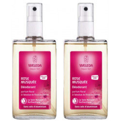 duo déodorant en spray à la rose de damas 2x100ml weleda - rose de damas les copines bio