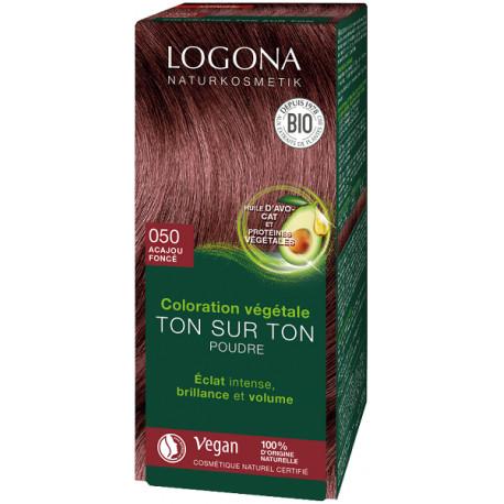 Logona Coloration végétale Ton sur Ton Acajou foncé 050 100g Soin colorant végétal les copines bio