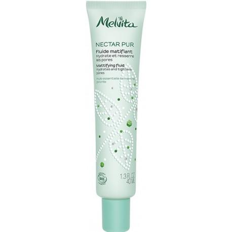Melvita Fluide matifiant Nectar Pur 40 ml peaux mixtes et grasses les copines bio