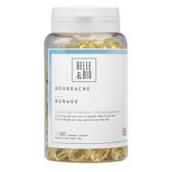 Belle et Bio Huile de Bourrache bio 120 capsules GLA acide gras essentiel les copines bio