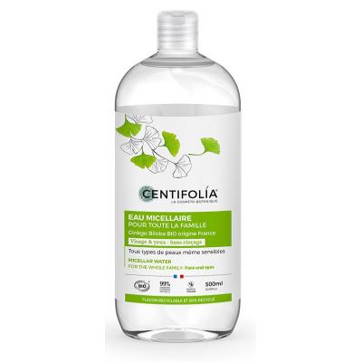Centifolia Eau Micellaire pour toute la famille au Ginkgo 500ml eau nettoyante bio les copines bio
