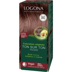 Logona Coloration végétale Ton sur Ton en poudre 070 Marron doré 100 g soin colorant les copines bio
