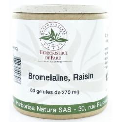 Bromélaine Marc de raisin 60 Gélules végétales Herboristerie de Paris digestion silhouette les copines bio