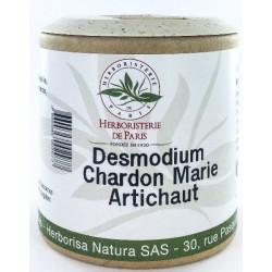 Desmodium Chardon marie Curcuma Artichaut 200 gélules herboristerie de paris complexe DCCA foie les copines bio