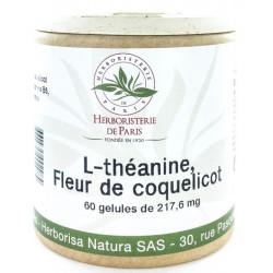 L théanine Coquelicot Vitamines B Mélatonine 60 Gélules nuits paisibles les copines bio