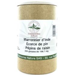 Herboristerie de paris Marronnier d'Inde OPC Vitamine E 200 Gélules  jambes légères les copines bio