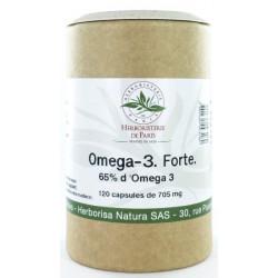 Herboristerie de paris Omega 3 forte 65 120 capsules de 705 mg acides gras essentiels EPA et DHA les copines bio