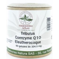 Herboristerie de paris Tribulus Coenzyme Q10 Eleuthérocoque 60 Gélules virilité masculine les copines bio