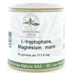 Herboristerie de paris L Tryptophane Magnésium marin Vitamines E et B6 60 Gélules anti stress et anti nervosité les copines bio