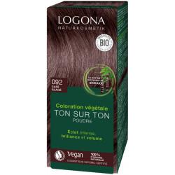 Logona Coloration végétale Ton sur Ton  Café glacé 092 100gr coloration capillaire les copines bio
