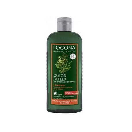 Logona shampooing Color Reflex henné bio 250ml  reflets cuivrés les copines bio
