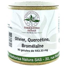 Herboristerie de Paris Olivier Quercétine Bromélaïne 90 Gélules oleuropéine Les copines bio