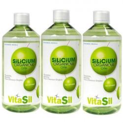 Vitasil Silicium Organique Pack Promo Lot de 3 x 500ml soit 1500ml silicium biodisponible Les copines bio