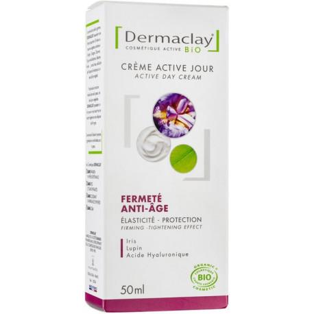 Dermaclay Crème active jour Fermeté Anti age 50ml anti rides les copines bio