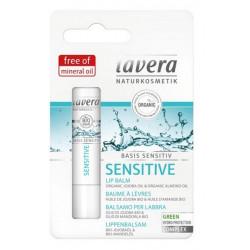 Lavera Baume à lèvres Jojoba bio et amande bio Basis Sensitiv 4.5 g les copines bio