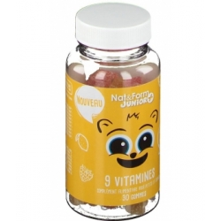 Nat et Form 9 Vitamines Junior+ 30 oursons croissance les copines bio