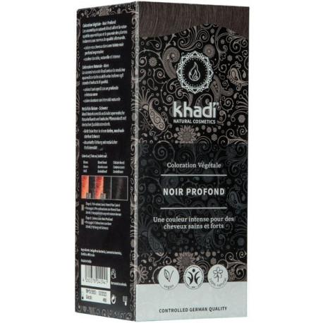 Khadi Coloration végétale Noir Profond 100 gr les copines bio